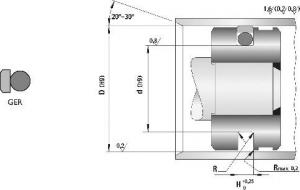 Schita Garnituri Hidraulice Pentru Piston Tip GER
