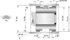 Schita Garnituri Hidraulice Pentru Piston Tip TPL