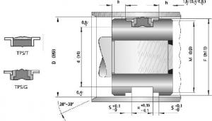 Schita Garnituri Hidraulice Pentru Piston Tip TPS (G)-(T)