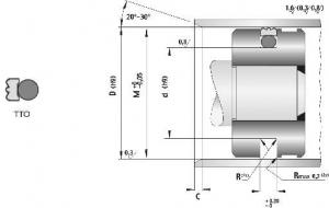 Schita Garnituri Hidraulice Pentru Piston Tip TTO